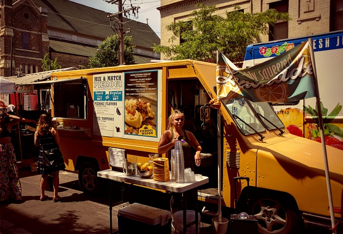 Which street would you find these food trucks on?!